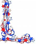 Patriotic Border Stars And Stripes Ribbons