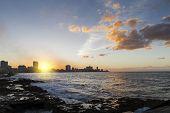 Havana Centro (Cuba) at Sunset