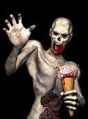 Zombie Brain Cream Cone