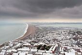 Chesil Beach In Winter