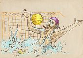 goalkeeper - water polo