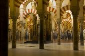 Interior Of Mosque, Cordoba,andalusia,  Spain