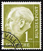 Postage Stamp Germany 1954 Theodor Heuss