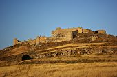 picture of argo  - Ruins of ancient Argos castle at Peloponnese peninsula Greece at sunny summer day against clear blue sky - JPG