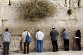 Jewish Worshipers  Pray At The Wailing Wall An Important Jewish Religious Site   In Jerusalem, Israe