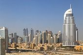 DUBAI, UAE - OCTOBER 23: Address Hotel, Downtown on October 23, 2012 in Dubai, UAE The hotel is 63 stories high and feature 196 lavish rooms and 626 serviced residences
