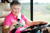 Rv Senior - Woman Using Gps