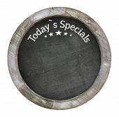 White Shabby Chic Wooden Picture Frame Chalkboard Blackboard Used As Today`s Specials