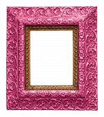 Pink Antique Carved Picture Frame