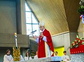Bishop Franz Peter Tebartz Van Elst At The Inauguration Ceremony Of The Young Confirmants
