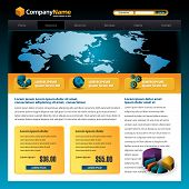 stock photo of web template  - Business vector web site design template with a pie chart - JPG