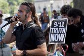 WASHINGTON-SEPT 11:A mix of activists including 9/11