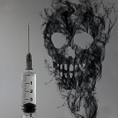 Syringe And Skull