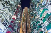 stock photo of overpopulation  - Overpopulated building in Hong Kong - JPG