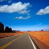 Arizona US 163 Scenic road to Monument Valley Park