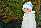 Young child, girl in woolly hat