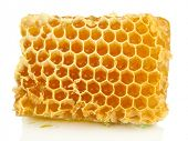 Sweet honeycomb isolated on white