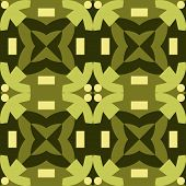 Green seamless pattern made from man figures.
