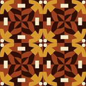 Brown seamless pattern made from man figures.