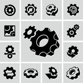 foto of gear  - Gears and Cogs - JPG