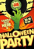 Halloween party design in pop-art style.