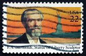 Postage Stamp Usa 1985 Frederic Auguste Bartholdi, French Sculpt