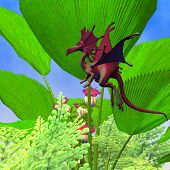 foto of faerie  - A creature of myth and fantasy the faerie dragon is a friendly animal with horns and wings - JPG