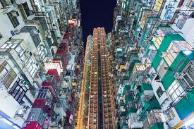 foto of overpopulation  - Overpopulated building in Hong Kong  - JPG