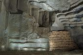 Wall In Salt Mine In Wieliczka, Poland