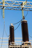 High-voltage Insulators On Transformer Substation