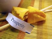 Fortune cookie, prosperity