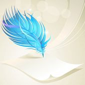 Abstract Paper and feather pen background