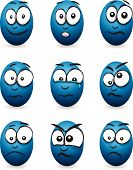 picture of blubber  - a set of cartoon blue egg faces - JPG