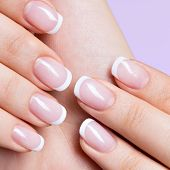 pic of french manicure  - Beautiful woman - JPG