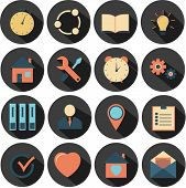 Flat design - vector icons set.