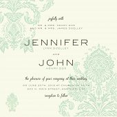Vector vintage wedding invitation set. Easy to edit. Great for invitations and announcements.