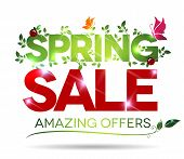 Spring Sale, Amazing Offers Message On A White Background