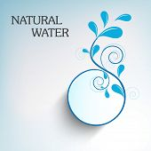 World Water Day sticker, tag or label design with stylish floral design made by water drops and text