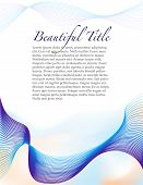 Fluid blue page template