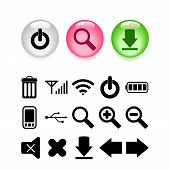Button set with icons