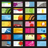 vector visit cards