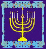 Hanukkah Greeting Card.