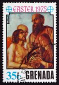 Postage Stamp Grenada 1975 Descent From The Cross, By Bellini