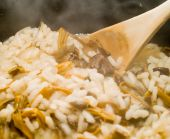 Cooking Mushroom Risotto