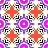Vector ethnic pattern with Moroccan motifs