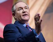 NATIONAL HARBOR, MD - MARCH 7, 2014: Former Virginia Governor Jim Gilmore speaks at the Conservative