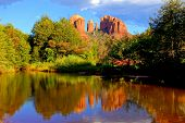 Famous Sedona red rock scene