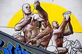 Street art mural