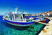colors of Greece series - traditional fishing boats