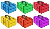 Illustration of the six colorful boxes on a white background